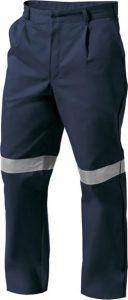 Pantalon drill con cinta reflectiva