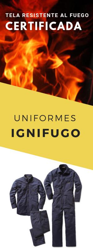 Ropa contra el fuego ignifuga